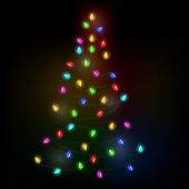 Christmas tree lights — Stock Vector