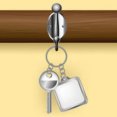 Key and key ring on a coat rack — Vetorial Stock