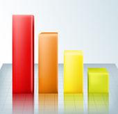 Graph illustration — Stock Vector