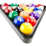 Постер, плакат: Billiard balls in triangle