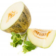 Royalty-Free Stock Photo: Melon half and sliced
