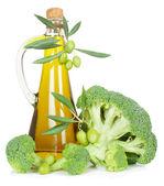 Brócoli y aceite de oliva — Foto de Stock