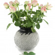 Pink roses in a vase. — Stock Photo