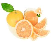 Grapefruit and juice — Stock Photo