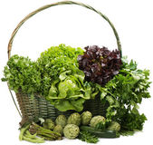 Mixed vegetable in basket — Stock Photo