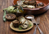 Grilled artichokes — Stock fotografie