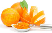 Orange peel and zest — Stock Photo
