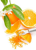 Orange with a zest — Stock Photo