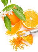 Orange with a zest — Stock Photo