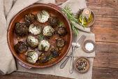 Artichoke hearts on big dish — Stock Photo