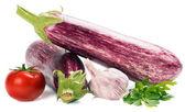 Eggplants with vegetables — Stock Photo