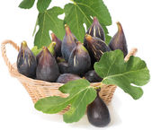 Figs  with leaves  — Stock Photo