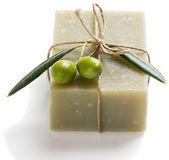 Natural vegetal soap of olive — Stock Photo