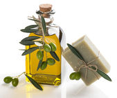 Natural soap with olive oil — Stock Photo