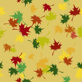 Seamless pattern with autumn leaves — Stock Vector