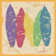 Illustration of colorful surfboards - Imagen vectorial