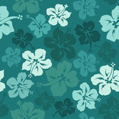 Floral seamless pattern of hibiscus — Stock Vector