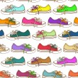 Seamless pattern of sneakers - Stock Vector