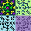 Vecteur: Set of seamless pattern of skulls