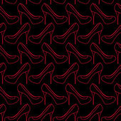 Seamless pattern of women shoes — ストックベクタ