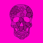 Illustration of lacy skull — Stock Vector
