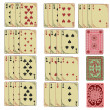 Set of retro playing cards — Stockvektor