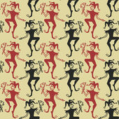 Seamless pattern of Jokers — Vetorial Stock
