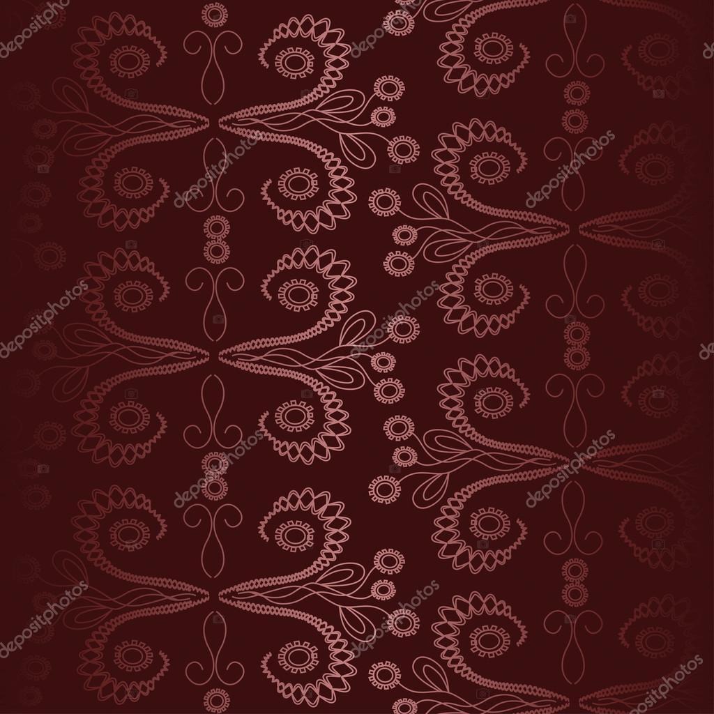 抽象渐变无缝花纹深红色背景上