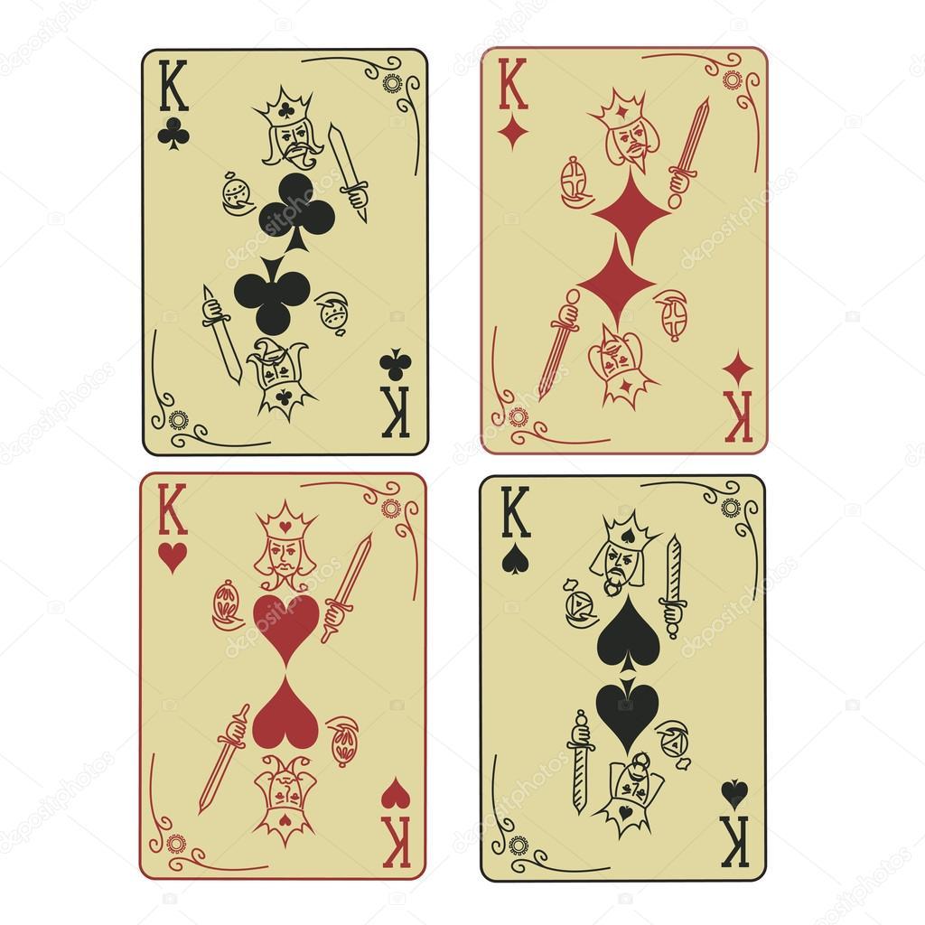 u8bbe u7f6e u56db u4e2a u56fd u738b u73a9 u6251 u514b u724c  u56fe u5e93 u77e2 u91cf u56fe u50cf u00a9 annykos 24738111 playing card vector images playing card vector pattern