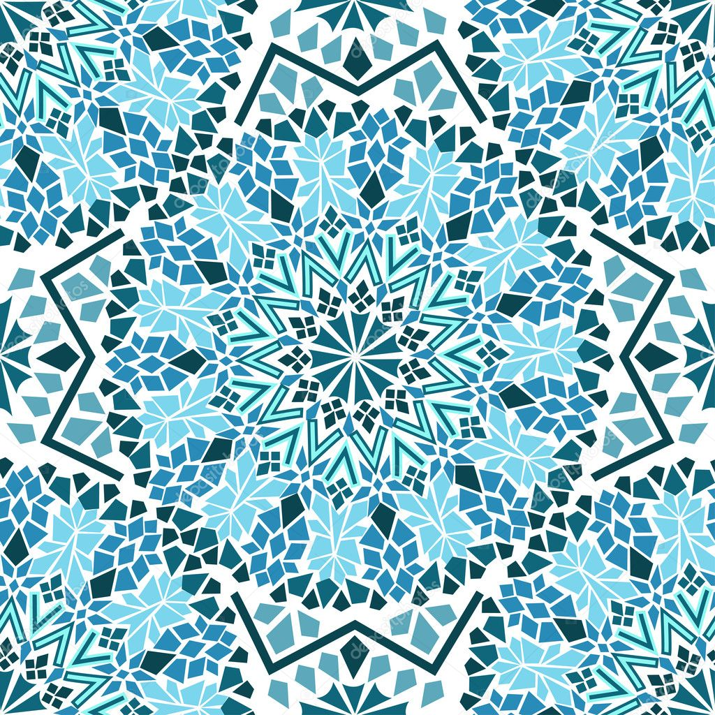 Islamic Mosaic Wallpaper Mosaic — Vector by Annykos