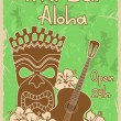 Vector de stock : Vintage Tiki bar poster