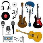 Icon of musical equipment — Stock Vector