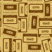 Seamless pattern of cassettes — Stock Vector