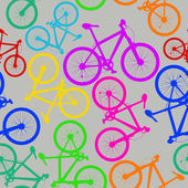 Seamless pattern of bicycles — Stock Vector