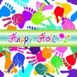 Stock Vector: Colorful Happy Holi background