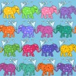 Seamless pattern of baby elephants — Stock Vector