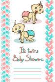 Cute Baby Shower card — Vetor de Stock