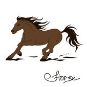Illustration of racing horse — Stock Vector