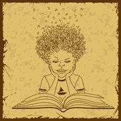 Chłopiec czytanie książki — Wektor stockowy