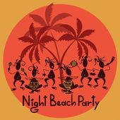 смешные приглашение пляжная вечеринка — Cтоковый вектор