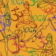 ������, ������: Seamless pattern of yoga poses