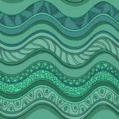 Ethnic seamless pattern of waves — Stock Vector