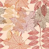 Padrão sem emenda de folhas de outono — Vetor de Stock