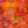 Seamless pattern of leaves — Imagen vectorial