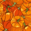 Seamless pattern of pumpkins — Stock Vector