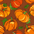 Seamless pattern of pumpkins — ベクター素材ストック