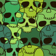 Seamless pattern of skulls — Stock Vector