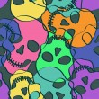 Seamless pattern of skulls — Image vectorielle