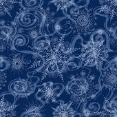 Seamless pattern of openwork snowflakes — Stock Vector
