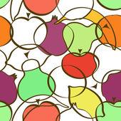 Wzór różnych owoców — Wektor stockowy